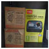 Lot w/ Lawn Master II Landscape Timer and Snap