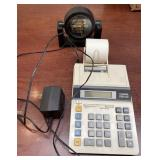 Canon P20-Dx adding machine  & clock