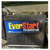 Lot of EverStart Batteries, Battery Fluid, cable