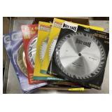 Box of steel circular saw blades