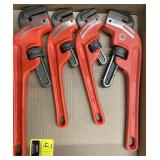 Pittsburgh 10 inch and 14 inch pipe wrenches