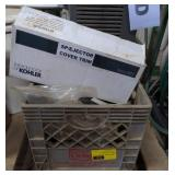 Crate of Various Sump Pump Parts