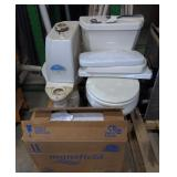 Pallet of Toilets and Parts