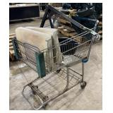 Adjustable seat and shopping cart