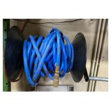 Air hose and reel for shop
