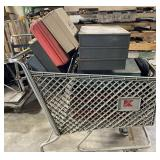 Kmart shopping cart with various tool boxes