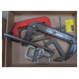Flat of Various Sized C Clamps