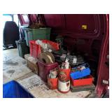 Right Half of Van. Misc Fastners, Hardware, Hose,