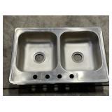 2 stainless steel sinks *bidding times the quan