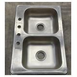 2 nickel stainless steel sinks NIB