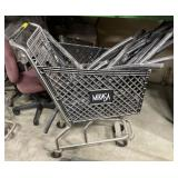 Shopping cart filled with piping