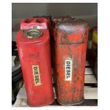 Pallet of gasoline cans