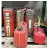 Lot of gasoline cans
