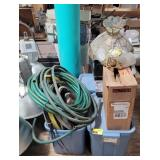 Lot w/ Various Hosing, Light Fixtures, and more