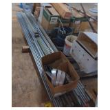 Lot of Various Sized Metal Piping