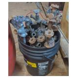 Bucket of Various Pipe Valves