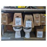 Lot w/ Toilet Bowls, Tanks & Covers, Mix PVC &