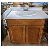 "Single Sink Bathroom Vanity, 39""x37""x22"""