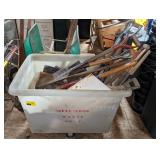 Large Plastic Rolling Bin w/ Cont of T