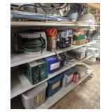 Shelving Cont incl Dehumidifier, Hose Reel, Oil