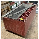 Lot of plastic storage crates