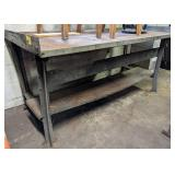 Metal Work Bench. 72x34x34