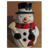 Snowman Cookie Jar.  Comes in Betty Boop Box