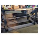 Metal Shop Bench. 61x30x35