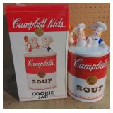 Vtg Campbell Soup Kids Cookie Jar w/box