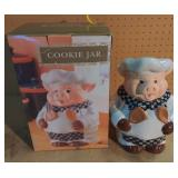Pig Chef Cookie Jar w/Box