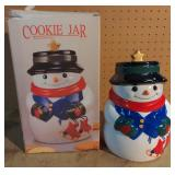 Star Snowman Cookie Jar w/Box