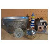 Lot of Home Decor Items-Paperweight, Light House,