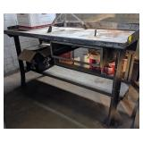 Metal Shop Bench. 60x29x34