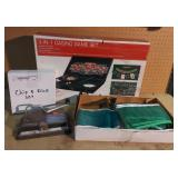 Lot w/Casino Game Set + Chip & Dice Set, Ping