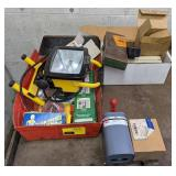 Lot includes Halogen Shop Light, Socket Trays,