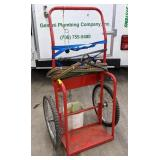 Welding Tank Cart w/ Oxy Acetylene Gauges and