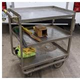Metal Shop Cart. 27x18x34