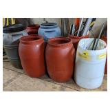Large Lot of Rain Barrels and Misc Scrap