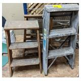 Wood and Metal Step Ladders. Bidding on one times