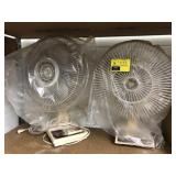 Alaron 3 Speed Oscillating Fan and Lakewood Desk