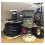 Spools of Various Wire and Clear Plastic Bags