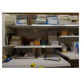 Shelves of Various Office Supplies
