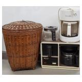 Lot has Wicker basket trash can & the office