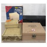 Lot of various boxes - key boxes, cash box , mail