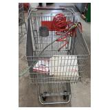 Shopping cart with  various items. Attachments