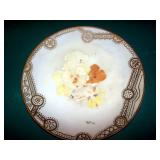 Hand Painted Plate w/ Filagree