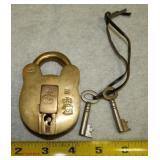S  Brass Pad Lock
