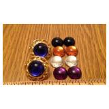 OF PIERCED EARRINGS W/MAGNETIC STONES