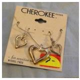 OF HEART NECKLACE AND EARRINGS