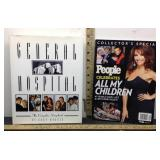 E3 LOT OF 2 SOAP OPERA BOOKS, PEOPLE MAGAZINES,